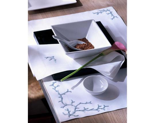 Набор салфеток Koralle Blau 6 шт производства ERI Textiles купить в онлайн магазине beau-vivant.com
