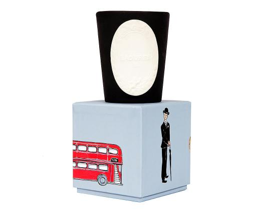 Ароматическая свеча Villes Porte-bonheur Londres производства Ladurée купить в онлайн магазине beau-vivant.com