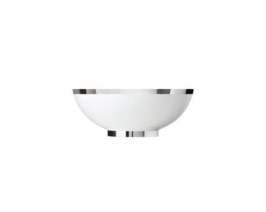 Чаша закругленная Treasure Platinum 15,5 см производства Sieger by Fürstenberg купить в онлайн магазине beau-vivant.com