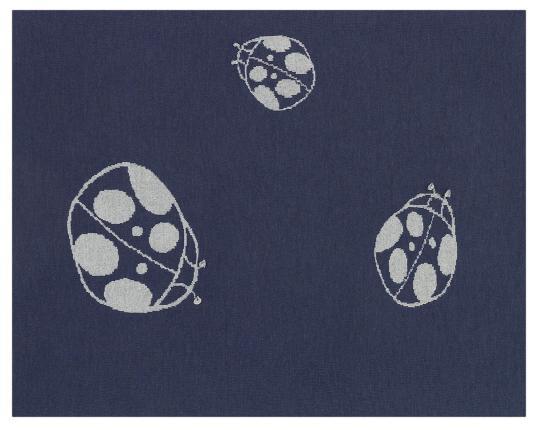 Шерстяной синий детский плед с божьей коровкой Marie производства Eagle Products купить в онлайн магазине beau-vivant.com