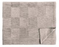 Шерстяной серо-коричневый детский плед Moritz