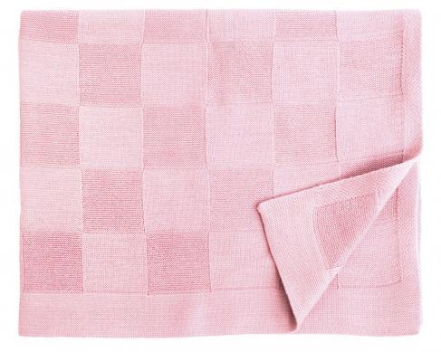 Шерстяной розовый детский плед Moritz