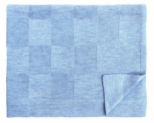 Шерстяной голубой детский плед Moritz  производства Eagle Products купить в онлайн магазине beau-vivant.com