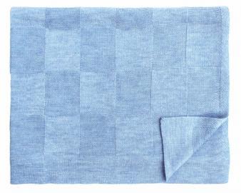 Шерстяной голубой детский плед Moritz