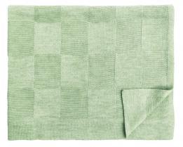 Шерстяной зелёный детский плед Moritz