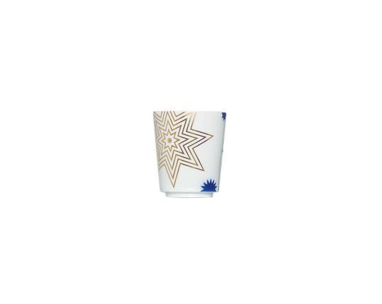 Чашка для эспрессо Wunderkammer 80 мл без ручки с золотым рисунком  производства Sieger by Fürstenberg купить в онлайн магазине beau-vivant.com