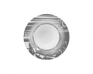 Тарелка глубокая Outline Silver 25 см