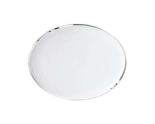 Тарелка овальная Treasure Platinum 22 см производства Sieger by Fürstenberg купить в онлайн магазине beau-vivant.com