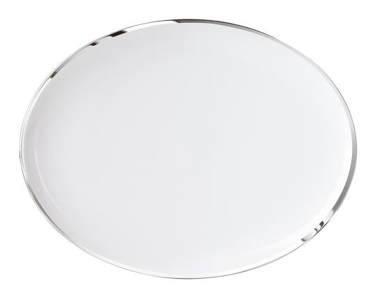 Тарелка овальная Treasure Platinum 31 см производства Sieger by Fürstenberg купить в онлайн магазине beau-vivant.com