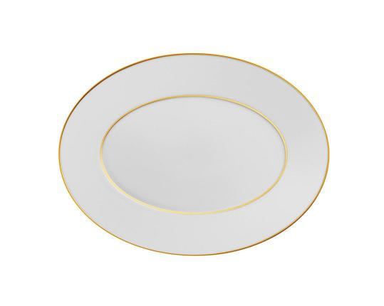 Блюдо овальное Carlo Oro 32 см производства Fürstenberg купить в онлайн магазине beau-vivant.com
