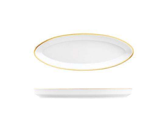 Блюдо овальное Carlo Oro 31 см производства Fürstenberg купить в онлайн магазине beau-vivant.com