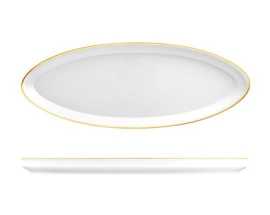 Блюдо овальное Carlo Oro 45 см производства Fürstenberg купить в онлайн магазине beau-vivant.com