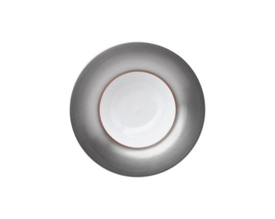 Тарелка глубокая Polite Silver 25 см производства Hering Berlin купить в онлайн магазине beau-vivant.com