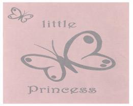 Шерстяной розовый детский плед Princess