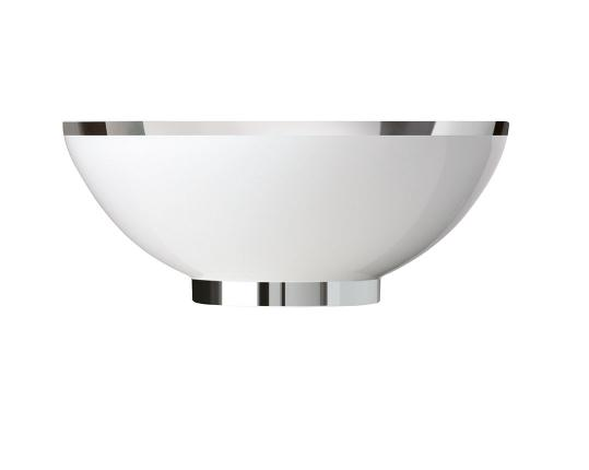 Чаша закругленная Treasure Platinum 26 см производства Sieger by Fürstenberg купить в онлайн магазине beau-vivant.com