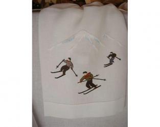 Скатерть Skifahrer 110 см х 110 см
