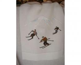 Скатерть Skifahrer 180 см х 180 см