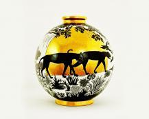 Шарообразная ваза Soleil d'Or 38 см
