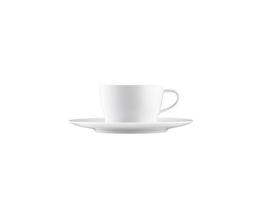 Чашка с блюдцем для чая и капучино Auréole Weiss 200 мл производства Fürstenberg купить в онлайн магазине beau-vivant.com