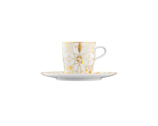 Чашка с блюдцем для кофе Auréole Dorée 200 мл производства Fürstenberg купить в онлайн магазине beau-vivant.com