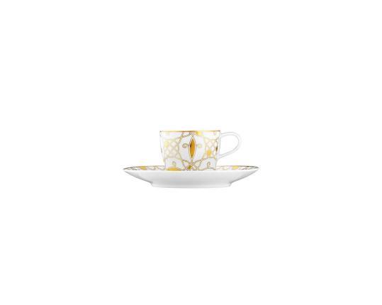 Чашка с блюдцем для эспрессо Auréole Dorée 70 мл производства Fürstenberg купить в онлайн магазине beau-vivant.com