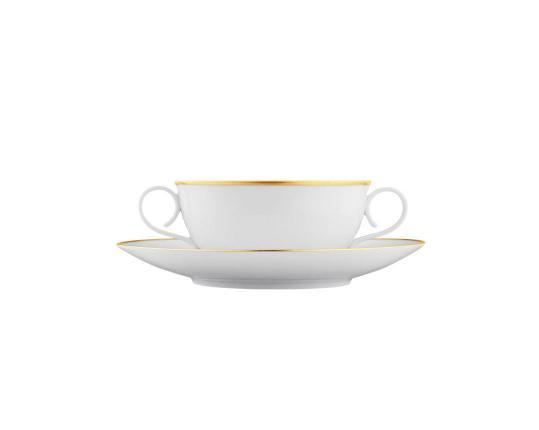 Чашка суповая с блюдцем Carlo Oro 320 мл производства Fürstenberg купить в онлайн магазине beau-vivant.com