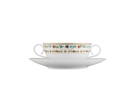 Чашка суповая с блюдцем Rajasthan 320 мл производства Fürstenberg купить в онлайн магазине beau-vivant.com