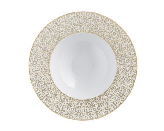 Тарелка глубокая для супа Rajasthan с рельефным орнаментом 23 см производства Fürstenberg купить в онлайн магазине beau-vivant.com