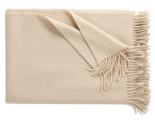 Кашемировый плед Windsor (кремовый) производства Eagle Products купить в онлайн магазине beau-vivant.com