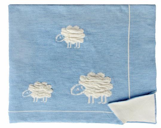 Шерстяной голубой детский плед Wolly  производства Eagle Products купить в онлайн магазине beau-vivant.com