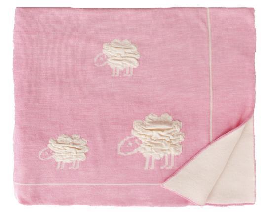 Шерстяной розовый детский плед Wolly  производства Eagle Products купить в онлайн магазине beau-vivant.com
