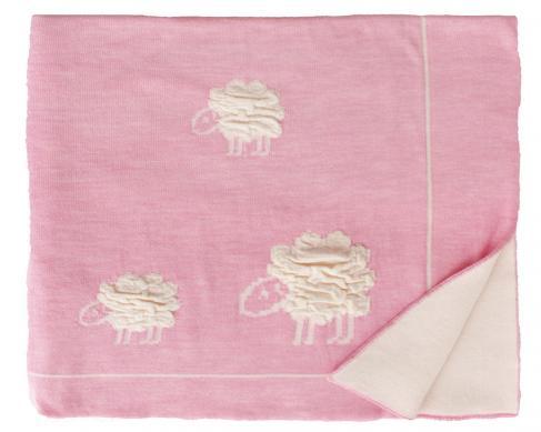 Шерстяной розовый детский плед Wolly