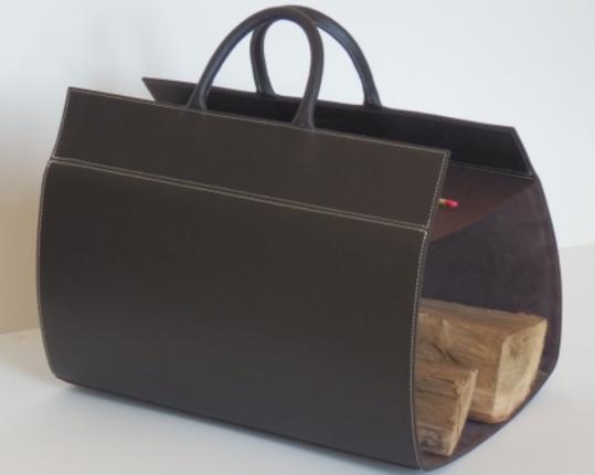 Кожаная дровница Noir  производства MIDIPY купить в онлайн магазине beau-vivant.com