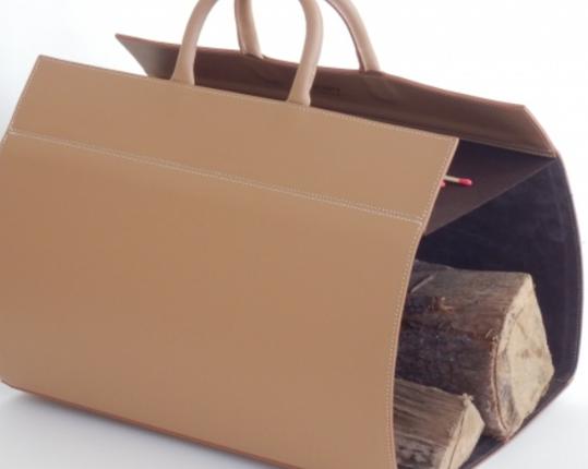 Кожаная дровница Camel  производства MIDIPY купить в онлайн магазине beau-vivant.com