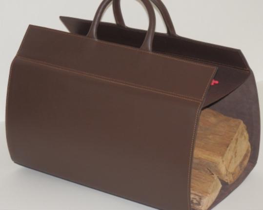Кожаная дровница Chocolat  производства MIDIPY купить в онлайн магазине beau-vivant.com
