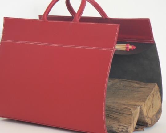 Кожаная дровница Rouge  производства MIDIPY купить в онлайн магазине beau-vivant.com