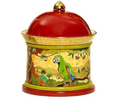Шкатулка Oiseaux d'Amérique 23 см производства Emaux de Longwy купить в онлайн магазине beau-vivant.com