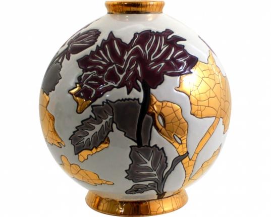 Шарообразная ваза A l'ombre des fleurs 18 см производства Emaux de Longwy купить в онлайн магазине beau-vivant.com
