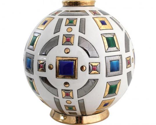 Шарообразная ваза Parure 18 см производства Emaux de Longwy купить в онлайн магазине beau-vivant.com