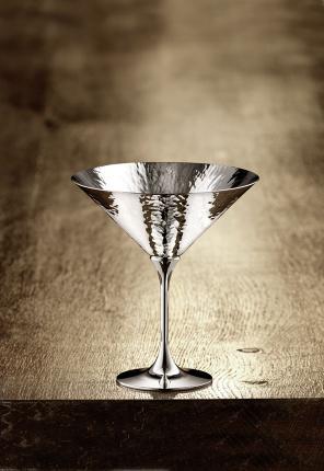 Широкий бокал для шампанского Martele (посеребрение) производства Robbe & Berking купить в онлайн магазине beau-vivant.com
