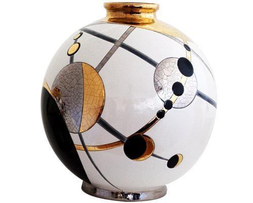 Шарообразная ваза Moon 38 см  производства Emaux de Longwy купить в онлайн магазине beau-vivant.com
