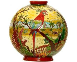 Шарообразная ваза Oiseau d'Amérique 26 см