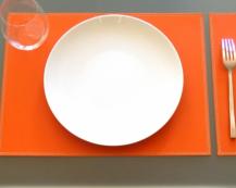 Кожаная салфетка под прибор Orange
