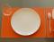 Кожаная салфетка под прибор Orange  - купить в онлайн магазине beau-vivant.com