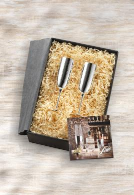Подарочная пара, бокалы для шампанского, Martele (посеребрение)