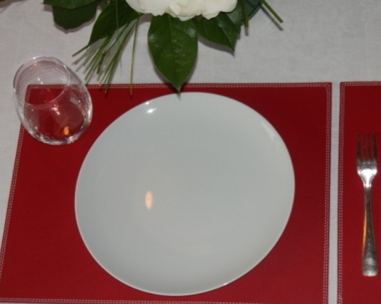 Кожаная салфетка под прибор Rouge  производства MIDIPY купить в онлайн магазине beau-vivant.com