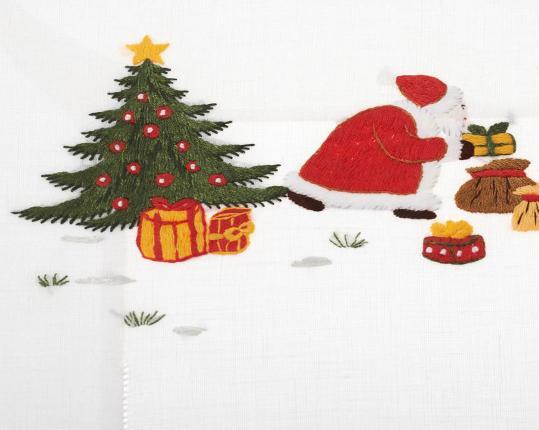 Скатерть Santa Claus 110 x 110 см производства ERI Textiles купить в онлайн магазине beau-vivant.com