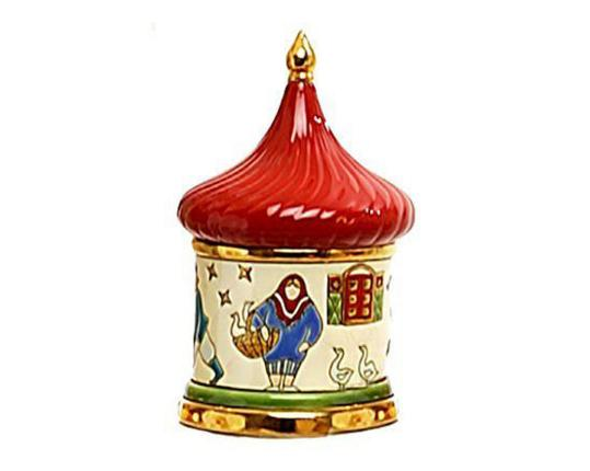 Шкатулка  Петрушка 11  см производства Emaux de Longwy купить в онлайн магазине beau-vivant.com